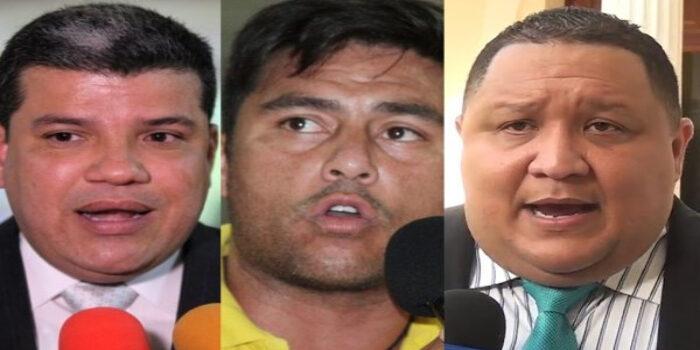Luis Parra, José Brito y Conrado Pérez