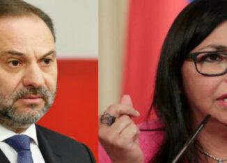 Ábalos y Delcy Rodríguez