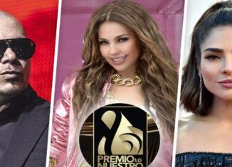 Thalía, Pitbull y Alejandra Espinoza