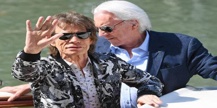 Mick Jagger y Donald Sutherland