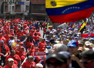 marcha oposición y oficialismo