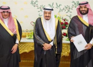 rey saudí, hno y sobrino