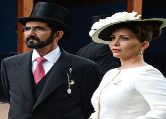 Haya de Jordania y el emir de Dubái