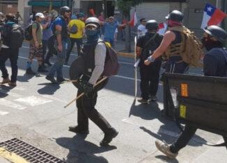 manifestantes Chile