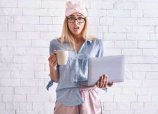 trabajar en pijama