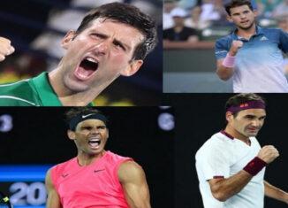 Novak Djokovic,Rafael Nadal, Thiem, Federer
