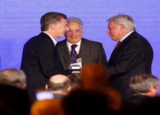 Macri y González